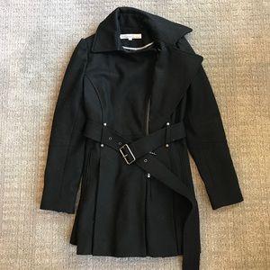 Kenneth Cole Wool Coat Black